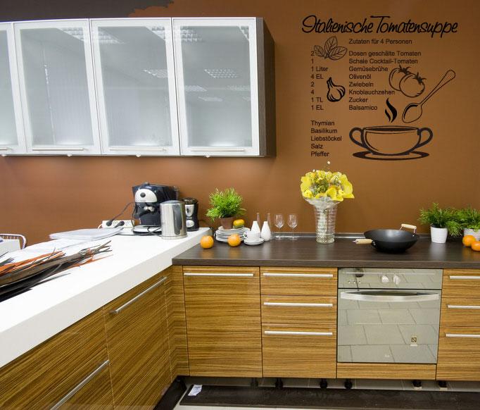 wandtattoo rezept k che italienische tomatensuppe ebay. Black Bedroom Furniture Sets. Home Design Ideas