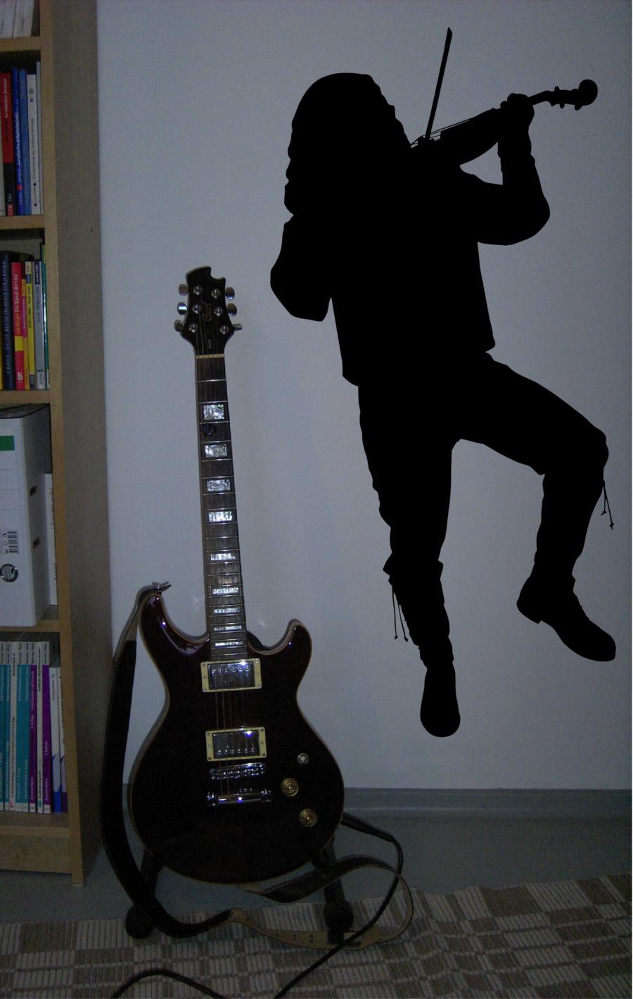 Details zu wandtattoo musik geiger irish rock pop the fiddler